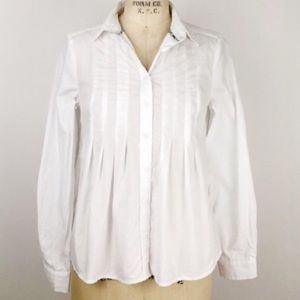 ANTHROPOLOGIE Maeve Button Down Pleated Flare Back